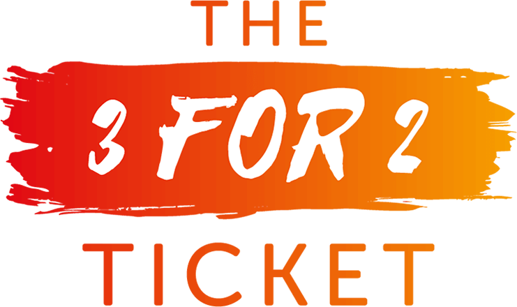 The 3 for 2 Ticket logo.