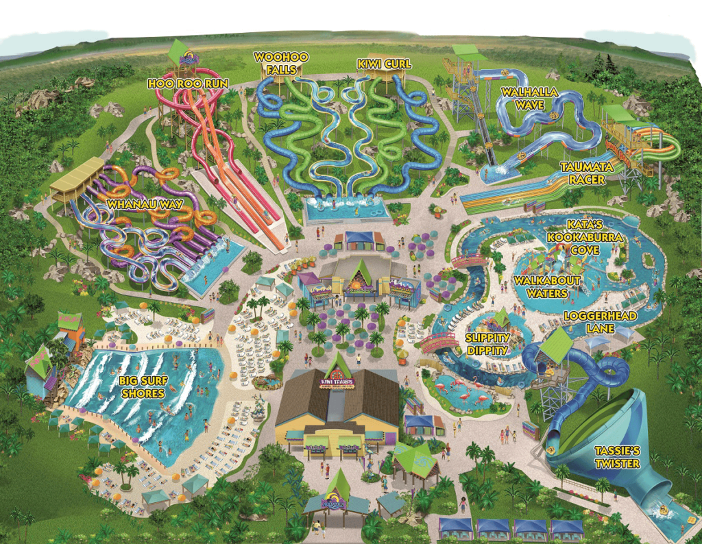 Aquatica California park map.
