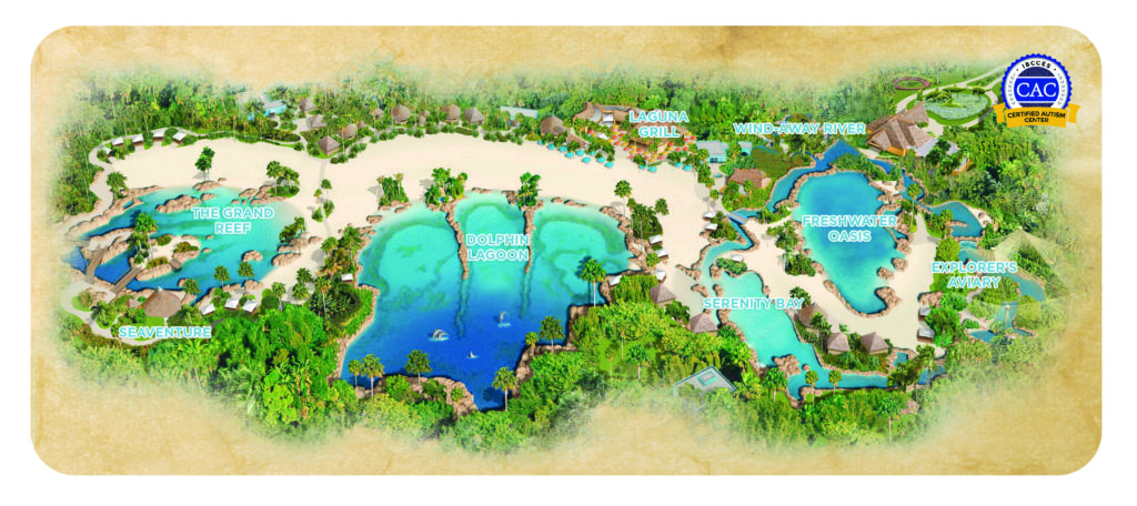 Discovery Cove park map.