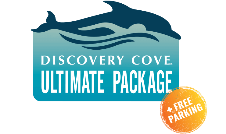 Discovery Cove Ultimate Package logo.